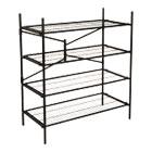 Instant Storage Shelving Unit, 4 Shelves, 42 3/4 x 20 3/4 x 47 3/4, Black CSC66714BLK1E