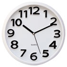 "Round Wall Clock, White, 13"" UNV10456"