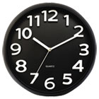 "Round Wall Clock, Black, 13"" UNV10454"