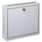 Wall-Mountable Interoffice Mailbox, 12w x 3d x 10h, Platinum BDY562532