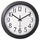 "Whisper Quiet Clock, 12"", Black UNV10451"