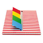 Orange Stripe Designer Pop-Up Flag Dispenser, 4 Pads of 35 Flags Each RTG75012