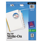Write & Erase Big Tab Paper Dividers, 8-Tab, Letter AVE23078