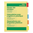 Plastic Insertable Dividers, 5-Tab, Letter AVE11465