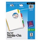 Write & Erase Big Tab Paper Dividers, 5-Tab, Letter AVE23076