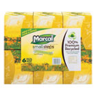 PRO Recycled White Facial Tissue, Fluff-Out Boutique Box, 80/Box, 6 Boxes/Pack MRC4034