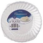 "Classicware Plastic Plates, 6"" Diameter, Clear, 12 Plates/Pack WNARSCW61512PK"