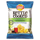 Kettle Cooked Salt & Vinegar Chips, 1.375 oz Bag, 64/Carton LAY25113