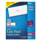 Easy Peel Laser Address Labels, 1 x 2-5/8, White, 3000/Box AVE5160