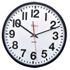 "Large Numeral Clock, 13"", Black UNV10450"