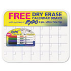 Low-Odor Dry-Erase Marker with Dry-Erase Calendar Board, Ultra Fine, 4/Set SAN1902250