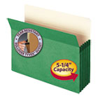 "5 1/4"" Exp Colored File Pocket, Straight Tab, Letter, Green SMD73236"