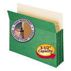 "3 1/2"" Exp Colored File Pocket, Straight Tab, Letter, Green SMD73226"
