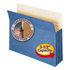 "3 1/2"" Exp Colored File Pocket, Straight Tab, Letter, Blue SMD73225"