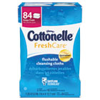 Cottonelle Fresh Care Flushable Cleansing Cloths, White, 3.73 x 5.5, 84/Pack KIM35970