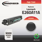 260X Compatible Reman E260A11A (E-260X) High-Yield Toner, 9000 Page-Yield, Black IVR260X