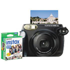 Instax 210 Wide Camera Bundle, Close-up Lens, Auto Focus, Black FUJ600013665