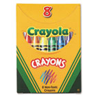 Classic Color Pack Crayons, Tuck Box, 8 Colors/Box CYO520008