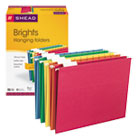 Hanging File Folders, 1/5 Tab, 11 Point Stock, Letter, Assorted Colors, 25/Box SMD64059