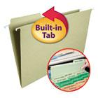 FasTab Hanging File Folders, 1/3 Tab, Legal, Moss Green, 20/Box SMD64083