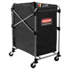 Collapsible X-Cart, Steel, Four Bushel Cart, 20 1/3w x 24 1/10d, Black/Silver RCP1881749