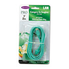 CAT5e Snagless Patch Cable, RJ45 Connectors, 7 ft., Green BLKA3L79107GRNS