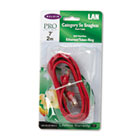 CAT5e Snagless Patch Cable, RJ45 Connectors, 7 ft., Red BLKA3L791B07RDS