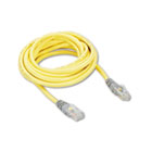 CAT5e Crossover Patch Cable, RJ45 Connectors, 10 ft., Yellow BLKA3X12610YLWM