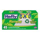 Renew Recycled Kitchen & Trash Bags, 13gal, .9mil, 24 x 27 1/4, White, 45/Box PCTE48259