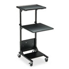 Adjustable Height Projection Stand, Three-Shelf, 18w x 20d x 42h, Black BLT81052