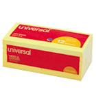Standard Self-Stick Notes, 3 x 3, Yellow, 12 100-Sheet Pads/Pack UNV35668