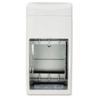 Bobrick Matrix Series Two-Roll Tissue Dispenser, 6 1/4w x 6 7/8d x 13 1/2h, Gray BOB5288
