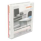"Round Ring Economy Vinyl View Binder, 1"" Capacity, White, 12/Carton UNV20962CT"
