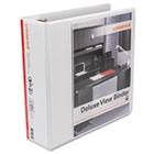 """Deluxe Round Ring View Binder, 3"""" Capacity, White UNV20752"""