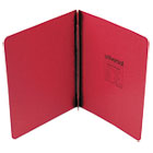 """Pressboard Report Cover, Prong Clip, Letter, 3"""" Capacity, Executive Red UNV80579"""