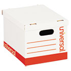 UNV95223 - Economy Storage Box, Lift-Off Lid, Letter/Legal. White, 12/Ct