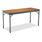Special Size Folding Table, Rectangular, 60w x 24d x 30h, Walnut/Black BRKCL2460WA