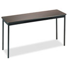 Utility Table, Rectangular, 60w x 18d x 30h, Walnut/Black BRKUT1860WA