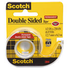"MMM136 - 665 Double-Sided Office Tape w/Hand Dispenser, 1/2"" x 250"""