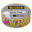 """Expressions Washi Tape, .59"""" x 393"""", Colorful Triangles MMMC314P13"""
