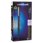 SAN60151 - Roller Ball Stick Dye-Based Pen, Black Ink, Micro, Dozen