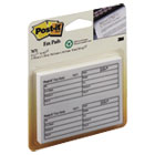 Fax Transmittal Notes,1-1/2 x 4, White, 4 50-Sheet Pads/Pack MMM76714