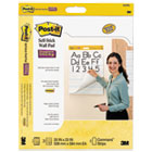 """Self-Stick Wall Easel Ruled Pad, 20""""w x 23""""h, White, 20 Sheets, 2/Pack MMM566PRL"""