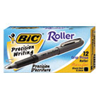 BICGRE11BK - Grip Stick Roller Ball Pen, Black Ink, .7mm, Fine, Dozen