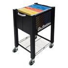 InstaCart Sidekick File Cart, 15w x 16-1/2d x 27-3/4h, Black VRTVF53002