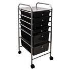 Portable Drawer Organizer, 13w x 15 3/8d x 32 1/8h, Smoke/Matte Gray AVT34005