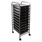 Portable Drawer Organizer, 13w x 15 3/8d x 37 3/4h, Smoke/Matte Gray AVT34007