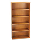 Series C Five-Shelf Bookcase, 35-5/8w x 15-3/8d x 72-7/8h, Natural Cherry BSHWC72414