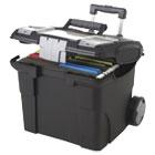 Premium File Cart, 15w x 16 3/8d x 14 1/4 to 30h, Black STX61507U01C
