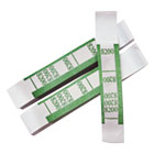Color-Coded Kraft Currency Straps, Dollar Bill, $200, Self-Adhesive, 1000/Pack PMC55028